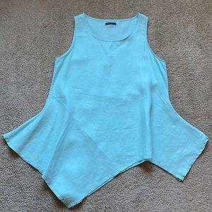 For Cynthia Seafoam Tunic linen top size Medium